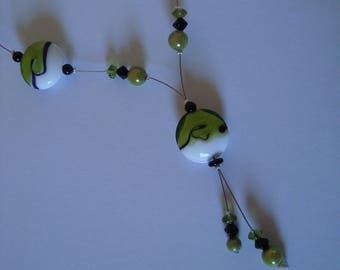 Black and white original green fashion necklace