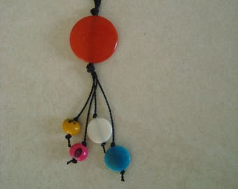 Long necklace multicolor color