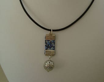Ball blue liberty pendant charm necklace