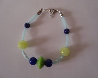 Simple bracelet green and blue
