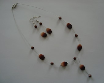 Fancy Brown jewelry set