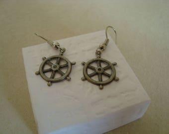 Fancy flying boat earrings
