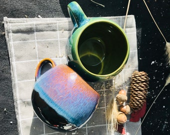 Handmade Artisan Coffee Mug | Artistic Coffee Mug | Ceramic Coffee Mug | Pottery Coffee Mug | Coffee Lover Gift | Caffeine Addict
