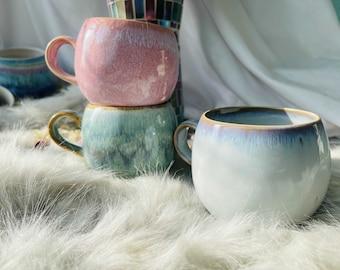 Pottery Mug, Handmade Ceramic Mug, Coffee Mug Pottery, Vintage Mug, Personalized Mug, Unique Mug,  Gift for her, Office Mug, Tea Mug