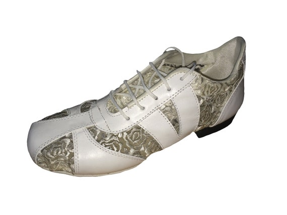 Tango Shoes La Vikinga Shoes Off-White Dance Sneakers Leather Shoes Practice Shoes Tango Sneakers