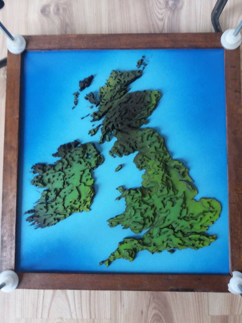3d Terrain Map Of Uk.3d Topographic Map Of The British Isles United Kingdom