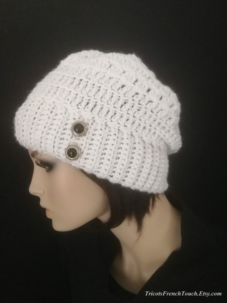 2aa10e8f973 Hat woman wool and alpaca. White hat handmade crochet.