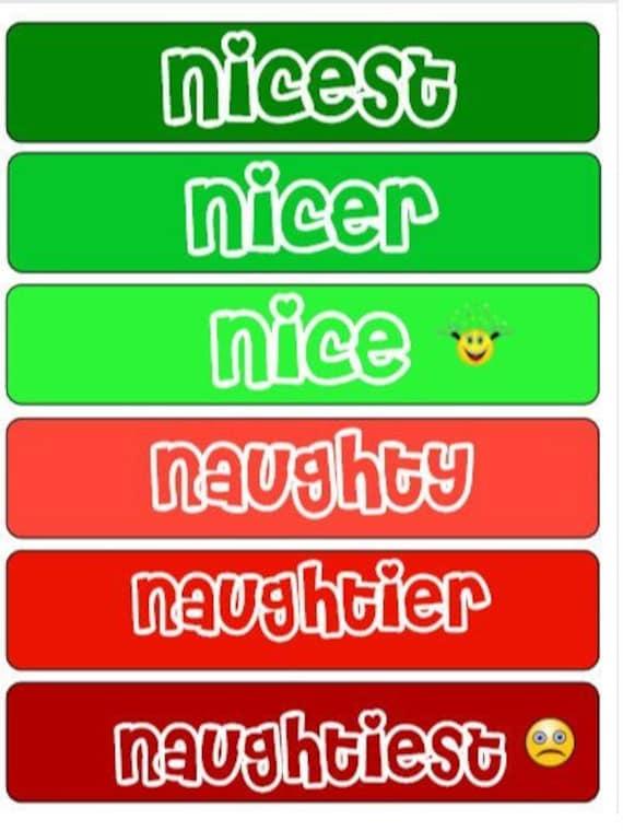 Christmas Naughty Or Nice Chart.Color Code Behavior Chart Christmas Edition Naughty Or Nice