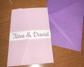 Purple and Lilac Wedding Invitation