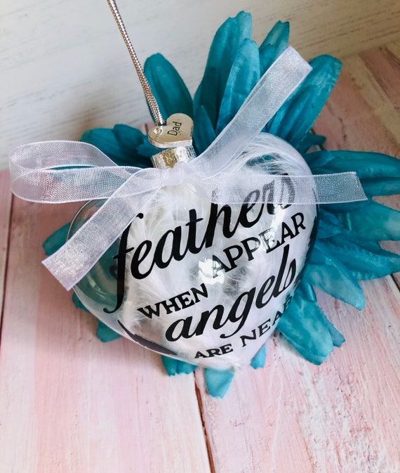 LARGE In Memory Memorial Candle Christmas Bauble Tree Decoration Personalised