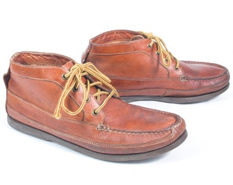 the latest f6feb 7359b VTG 90 s size 9 1 2 Men s Brown Leather Sperry Chukka Boots Top-Siders Lace  Up Ankle Boots Boating Shoes Top Sider