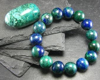 Dainty Natural Shattuckite Bracelet 6mm Rare Shattuckite Beaded Gemstone Bracelet Intense Blue Shattuckite Bracelet Unisex Gift Bracelet