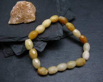 Himalayan Gold Azeztulite Genuine Bracelet ~ 7 Inches  ~ 6mm Round Beads