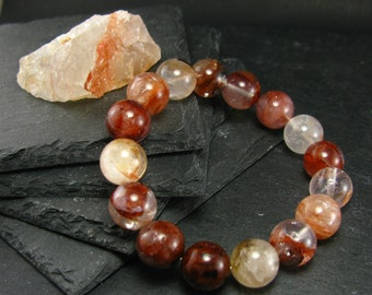 7d8491864093 Agnitite Fire Azeztulite Genuine Bracelet ~ 7 Inches ~ 12mm Round Beads