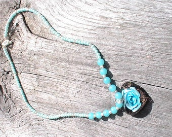 Cute Glass pearl and round beads Necklace