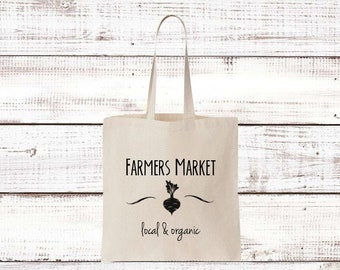 Reusable Grocery Tote Bag Love Me a Phat Beet Foodie Gift Hipster