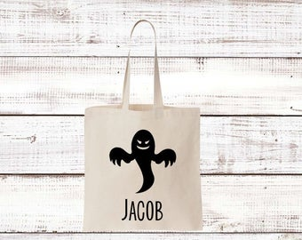 Personalized Ghost Halloween Tote
