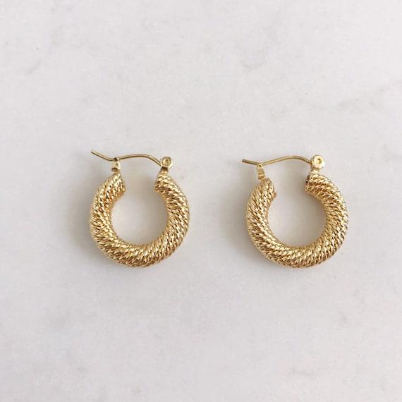 Gold Statement Hoop Earrings | Bohemian Earrings | Gold Trendy Hoop Earrings | Minimalist Gold Earrings | Classic Earrings | Everday Earring by Etsy