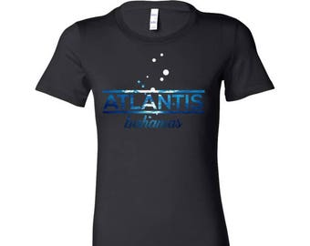 Bahamas Atlantis, Beach, Sea and Sun Underwater Bella Shirt