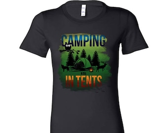 Cool Camping Is In Tents Campers, Holiday Vacation Bella Shirt