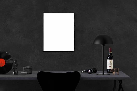 Mur maquette maquette intérieur bureau noir photo cadre vierge etsy