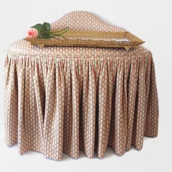 Terrific Upholstered Chair Vanity Stool Pink Shabby Chic Decor Evergreenethics Interior Chair Design Evergreenethicsorg