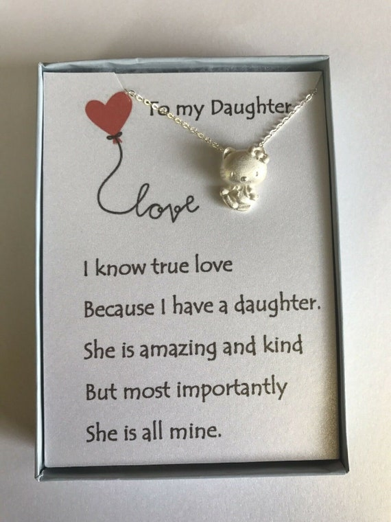 Hello Kitty Inspired Necklace W Love Poem For Your Daughter