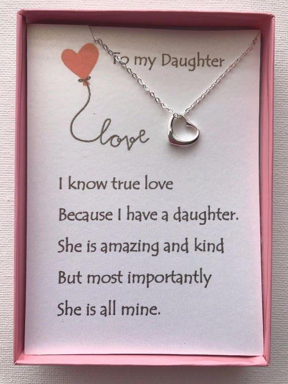 Collier Coeur Amour W Poème Damour Pour Votre Fille