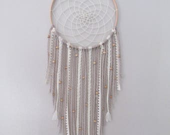 Dream catcher wood and wool beige & taupe