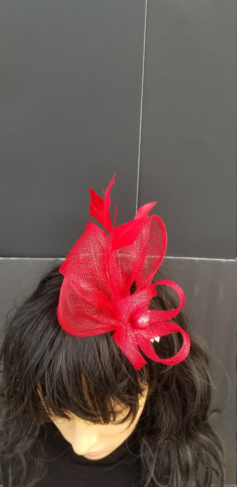Kentucky Derby Bridesmaids Hat Tea Ascot Race Melbourne Race Cocktail Party Kate Middleton  Crownjewell Silver Gray Fascinator
