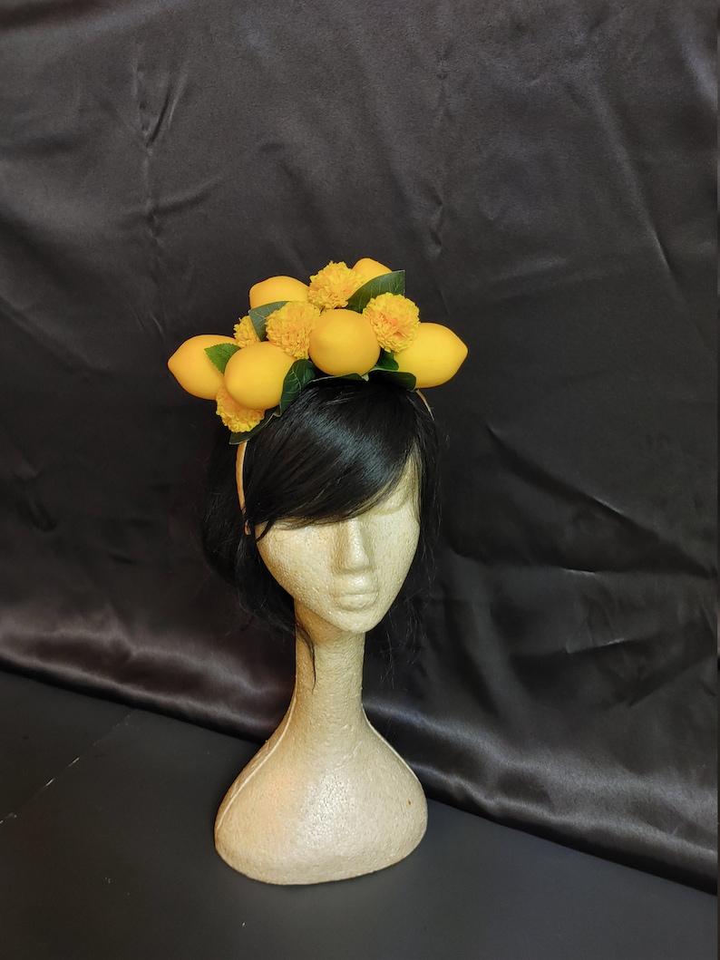 Lemon Hat- Photoshoot maternity shoot Floral Lemon Fascinator