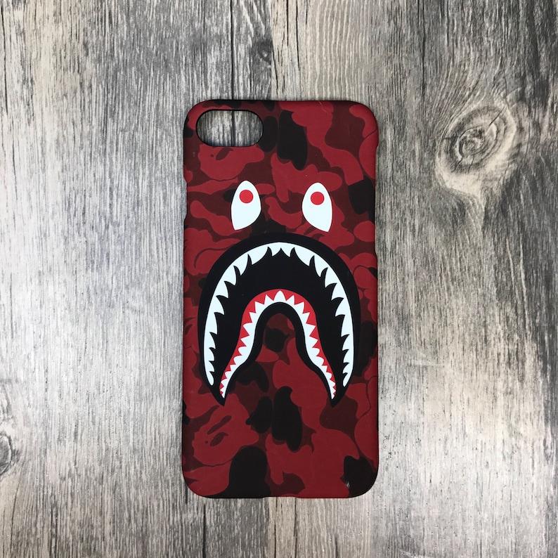 new styles c1f42 07261 Red Camo - Bape Custom Phone Cases apple iPhone 6 6s plus 7 7 plus 8 Plus  iphone 10 x ape inspired