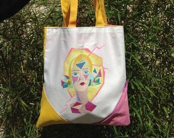 Handpainted tote bag