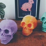 Skull Candle Halloween Decor Gift