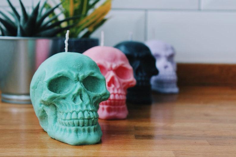 Skull Candle Halloween Decor Gift image 0