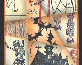 Card - Halloween collage