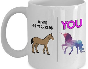 44th Birthday Gift Mug For Him Her 44 Year Old Gifts Happy Bday Party