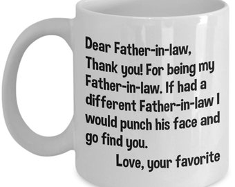 Dear Father In Law Gifts Mug Christmas Gift Birthday