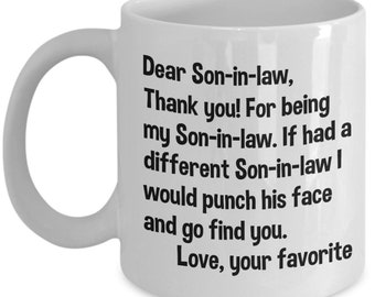 Dear Son In Law Gifts Mug Christmas Birthday Gift For Funny