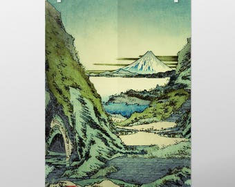 "Vintage Japanese Ukiyo-e Art Print signed Landscape Poster by Kijiermono ""Morning at Sin Ruido"" Wall Home Decor"