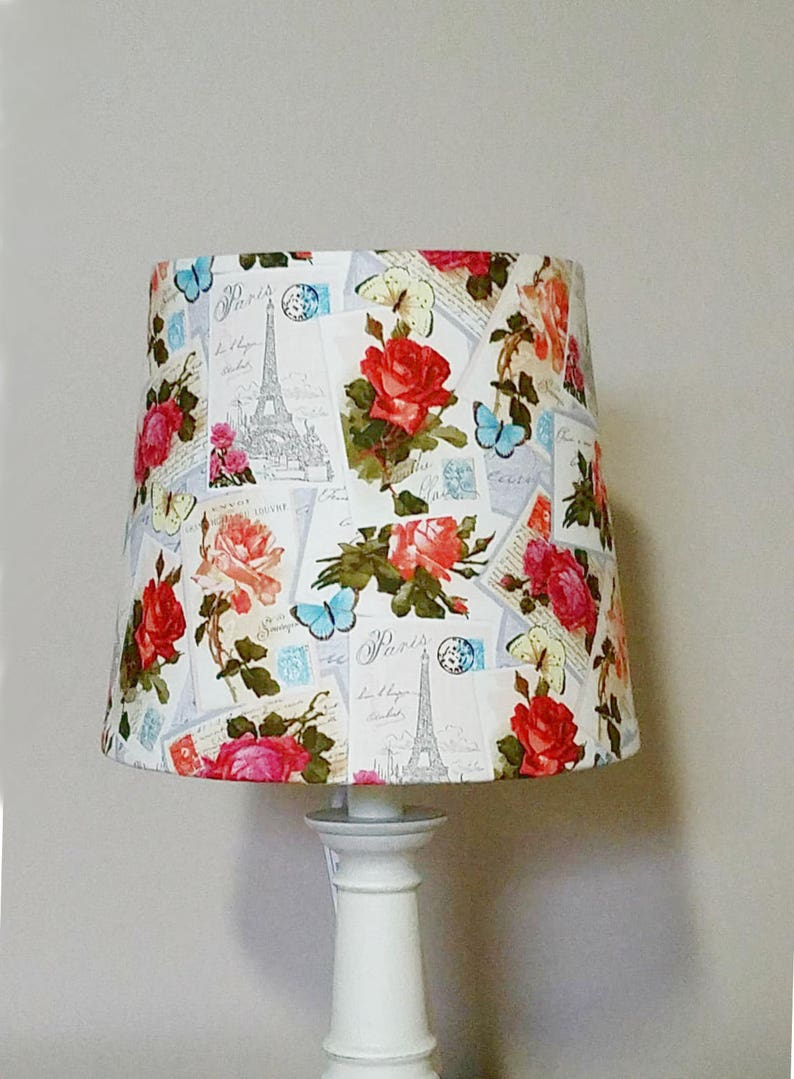 Paris Postcards lamp shade Eiffel Tower Roses Lampshade image 0