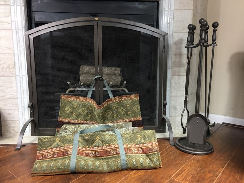 Log carrier firewood tote