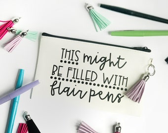 Teacher Pen Pouch // Flair Pen Pouch // Pencil Pouch // Pen Holder // Pencil Case // Teacher Pencil Case // Teacher // Teacher Gifts