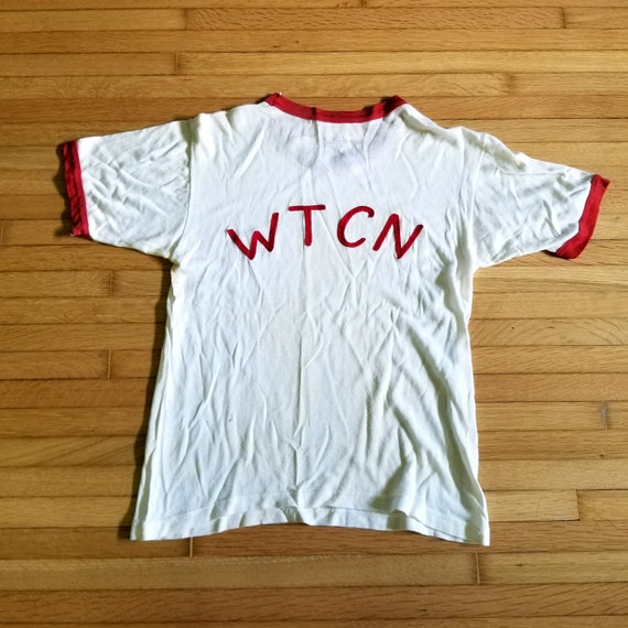 1960's to 1970's WTCN Ringer T-shirt / S-M / Vinta