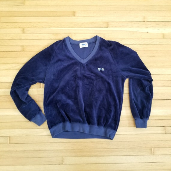Vintage JC Penney The Fox Velour V Neck Sweater /
