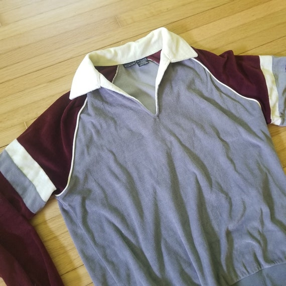 Vintage 1970's Sigallo Velour Style Pullover Swea… - image 1