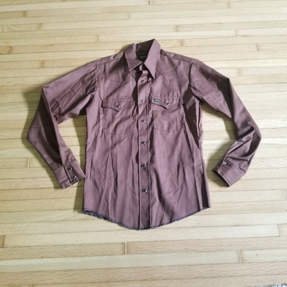 Vintage 1970's Wranglers Western Shirt / S to M /