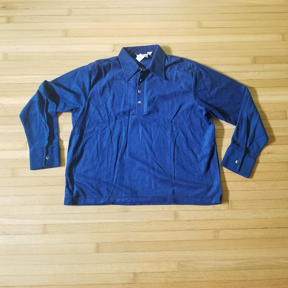 Vintage 1970's Sears Kings Road Velour Pullover S… - image 1