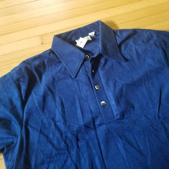 Vintage 1970's Sears Kings Road Velour Pullover S… - image 2