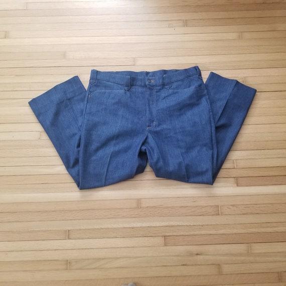 Vintage 1970's Lee Western Suit Pants / 41 x 28 /… - image 1